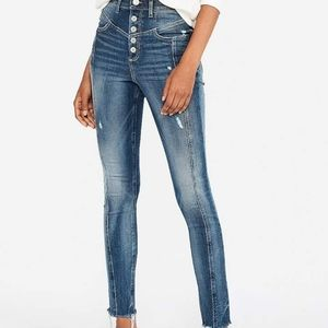 SUPER HIGH RISE TALL button fly ankle legging jean
